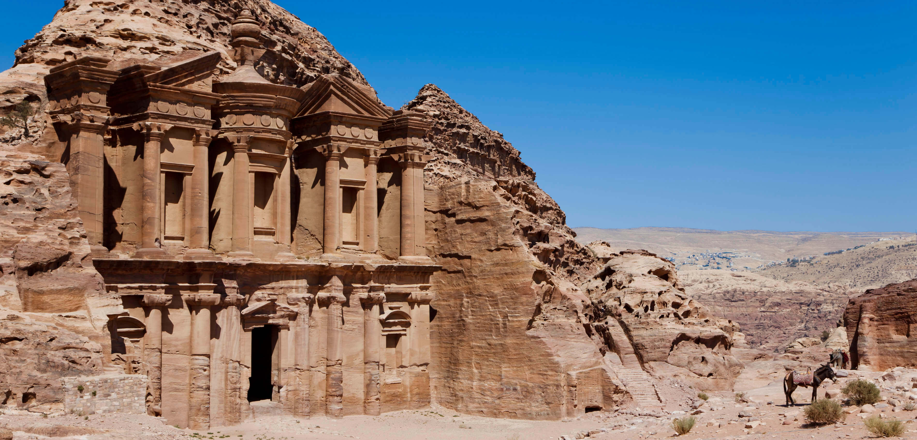 The Monastery, known locally as Ad Deir, located in the UNESCO World Heritage Site of Petra, or Rose-Red city, which was the 6th century capital city of the Nabataeans.